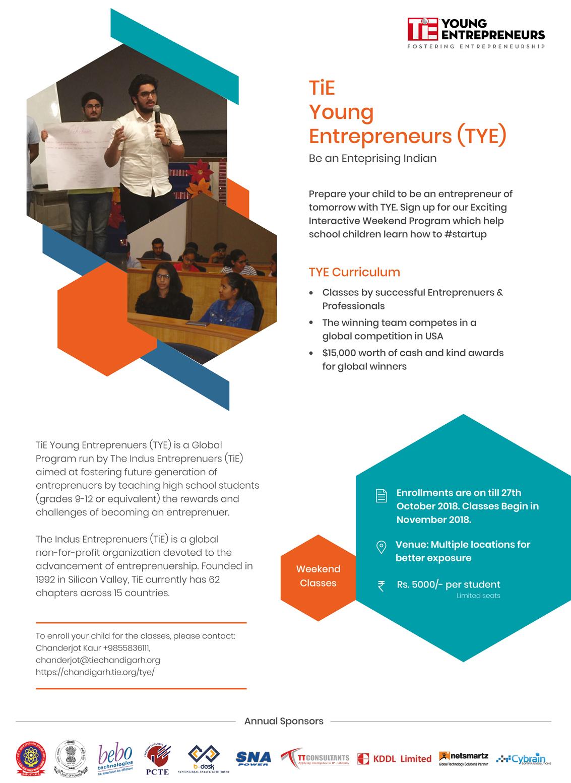 TiE Young Entrepreneurs (TYE)