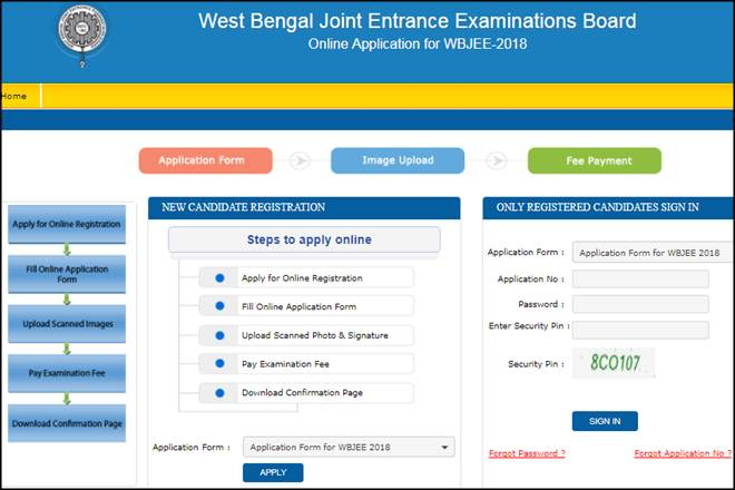 West Bengal Joint Entrance Examination Board | WBJEE Applications 2019