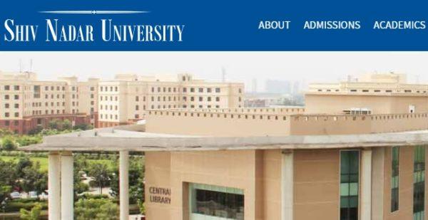 Shiv Nadar University application 2020-21
