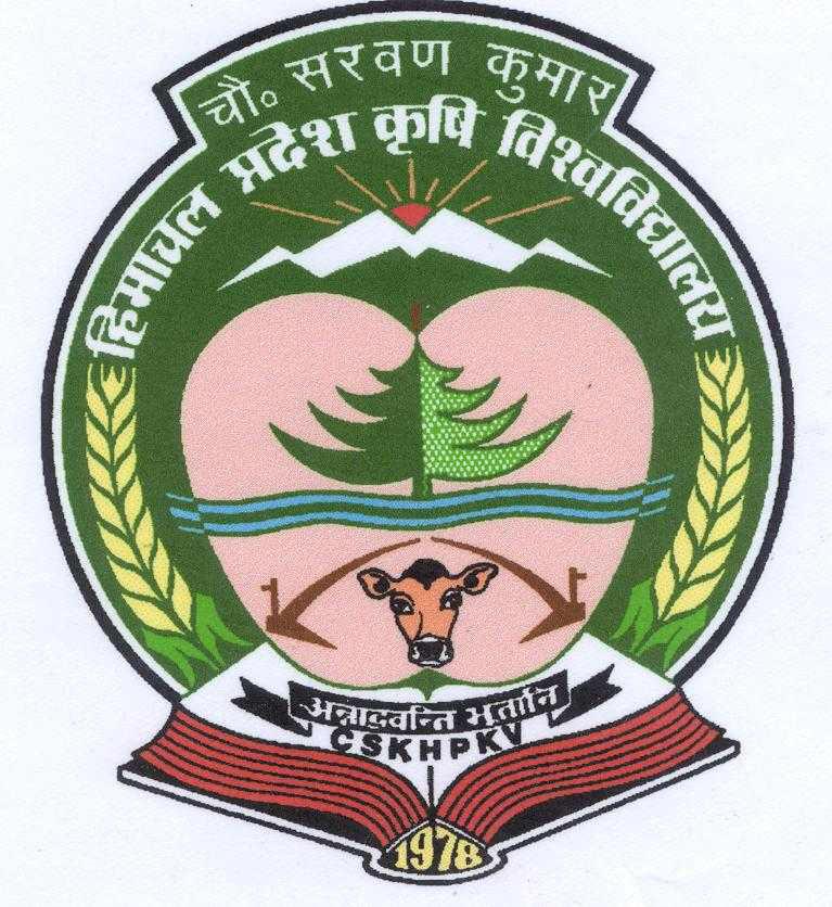 CSK Himachal Pradesh Krishi Vishvavidyalaya, Palampur 2020