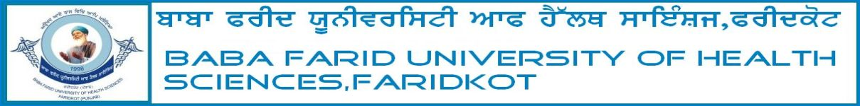 BFUHS Faridkot BPT, BMLT and BSc Medical (APB) Course Admission 2020