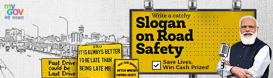 Write a Slogan On Road safety - Save Lives