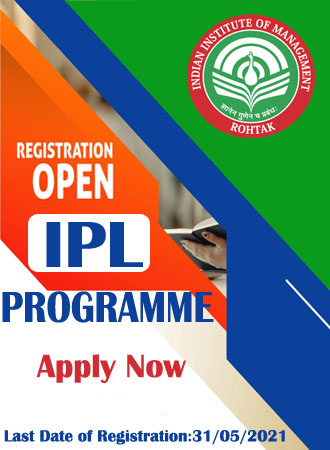 Indian Institute of Management (IIM), Integrated Law Rohtak, 2021
