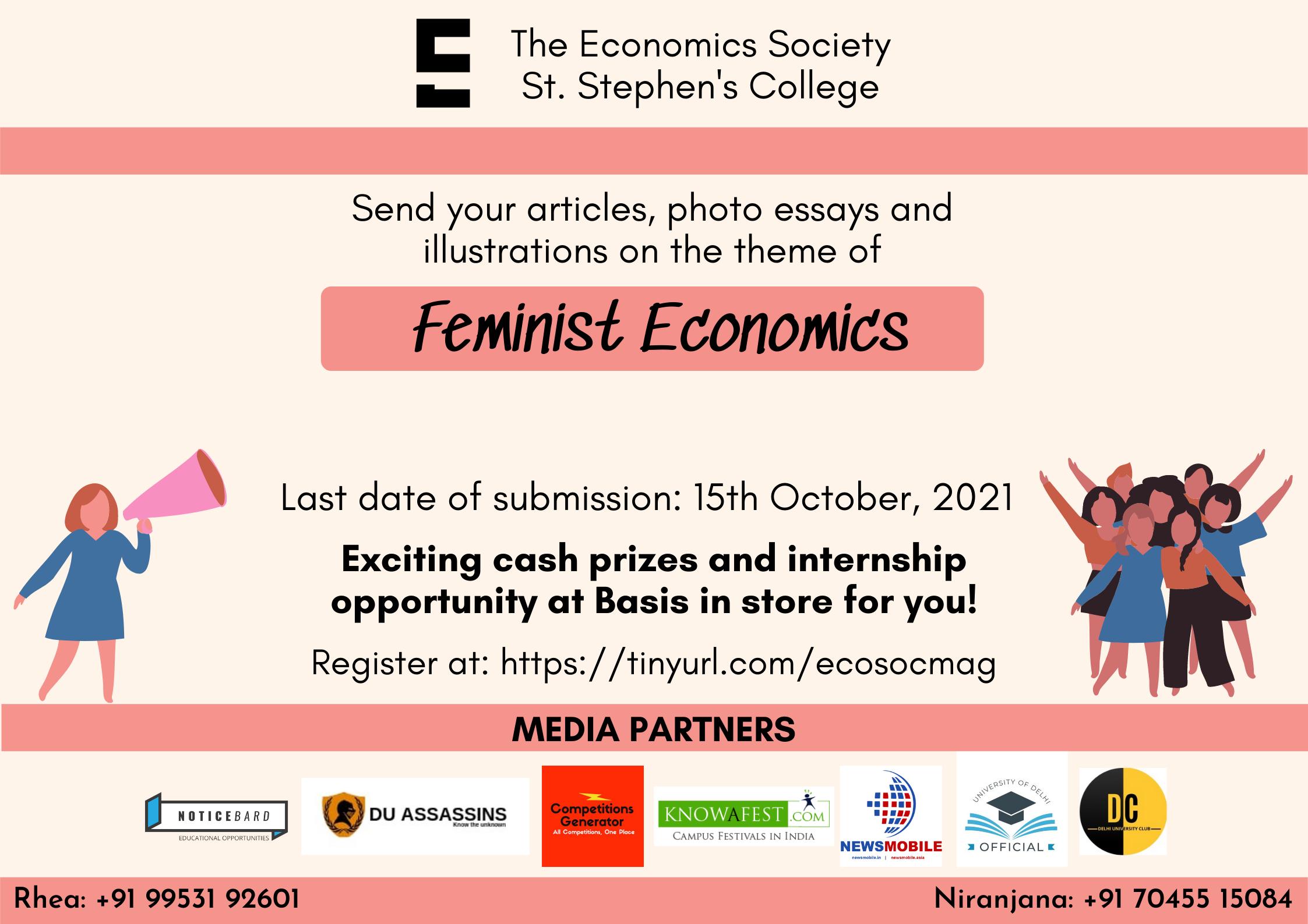 The Economics Society, St. Stephen's College Write On Feminist Economics